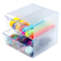 Stackable Cube Organizers 4 Drawer-Clear
