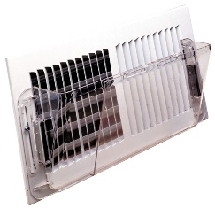 Wall Air Deflector for Heating and Cooling (Clear)