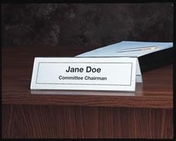Seminar Desk Name Holder Clear