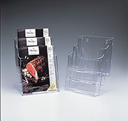 Deflecto 3-Tier Magazine Holder (Black)
