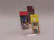Deflecto 3-Tier 6 Pocket Leaflet Holder (Clear)