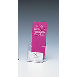 Single Leaflet Pocket w/ Business Card Holder (Clear)