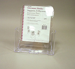 Single Magazine Pocket w Last Copy Protector and Sign Holder (Clear)