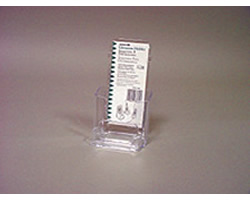 Single Leaflet Pocket w Last Copy Protector, Sign Holder and Business Card Holder (Clear)