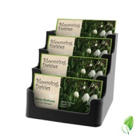 4 Compartment Business Card Holder