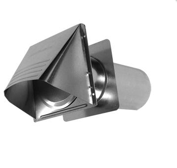 "Galvanized Exhaust Vent with Tailpipe, 4"" dia x 11""(10.1 x 28cm) Pipe,Damper.Collar"