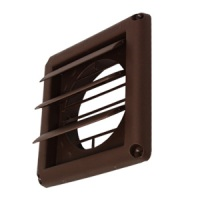 "Deflecto 4"" Diameter Supurr-Vent Louvered Hood w/Bird Bars (Brown)"