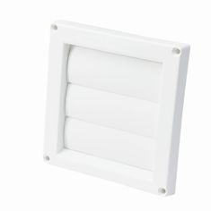 "Deflecto 4"" Diameter Supurr-Vent Louvered Hood w/Bird Bars (White)"