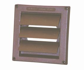 "6"" Diameter Flush Mount Louvered Hood (Brown)*8-10 week lead time if not in stock*"