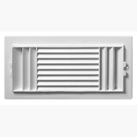 Rgs126 12x6 Wht 3wy Side Wall Pstc Rg Air Deflectors Air