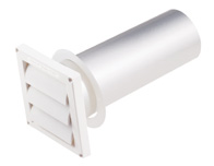 "Deflecto 3"" Supurr-Vent® Bathroom Vent with Louvered Vent Hood (White)"