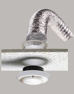 6 Quot X 20 Supurr Flex Metallic Duct Suspended Ceiling